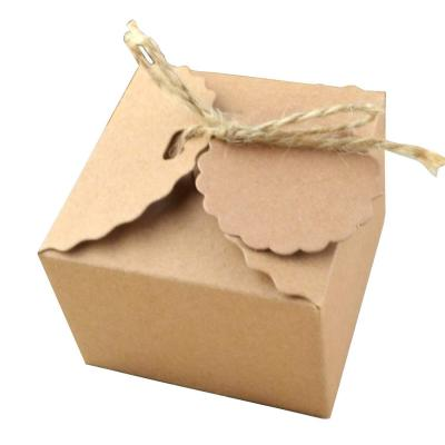 50pcs Papel Kraft Caja De Regalo