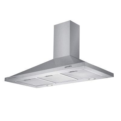 CIARRA Campana extractora Cocina Pared Versión Mejorada 100W 90cm 550 m h Luz LED y 3 Velocidades Teclas Filtro de Grasa Reduce Ruido Menos de 63 dB